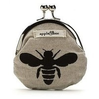Buy apple & bee embroidered coin purse, hemp bee & More | Beauty.com