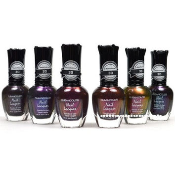 NEW KLEANCOLOR 3D DUOCHROME NAIL POLISH LOT OF 6 LACQUER THE CHROMATIC ERA KNP17 [8096935495]