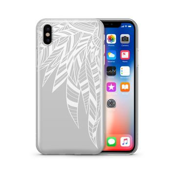 Henna Abstract Feathers - Clear TPU Case Cover Phone Case