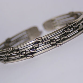 Shop wire wrapped jewelry for men on wanelo silver cuff bracelet mens bracelet cuff bracelet man wire wrapped bracelet cuff publicscrutiny Image collections