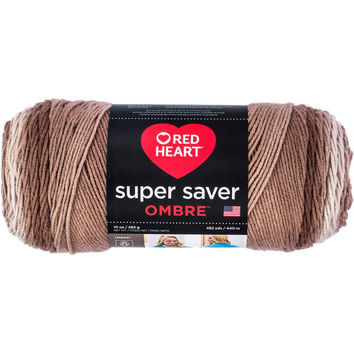 Red Heart Super Saver Ombre Yarn Cocoa