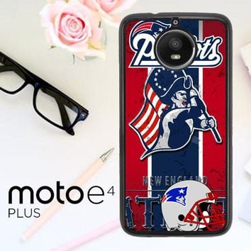 New England Patriots Z2997 Motorola Moto E4 Plus Case
