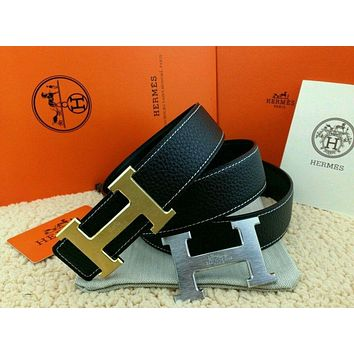 Hermes 110CM/38MM Belt With Constance 2H Golden-Sliver Buckle