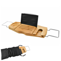 Luxury Bamboo Bathtub Caddy Tray Table For An Ultimate Bath Experience