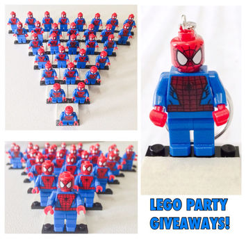 Sale 75% OFF 72.00 Now Only 18.00! Five Lego® SPIDERMAN Minifigurine, Lego Party Favor Giveaways, Lego Justice League, Superhero Party Favor