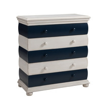 Nautical Blue/Ivory Three Drawer Chest