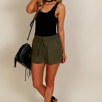 My Comfort Twill Shorts Olive