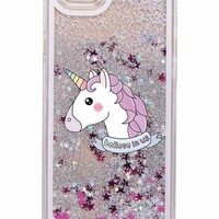 Unicorn Glitter Liquid IPhone Case