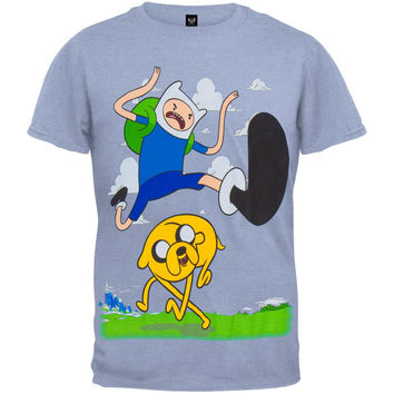 Adventure Time - Finn Kick Jump Youth T-Shirt