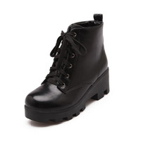 Casual Platform Ankle Boots