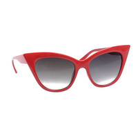 Red Pointed Cat Eye Scarlet Sunglasses