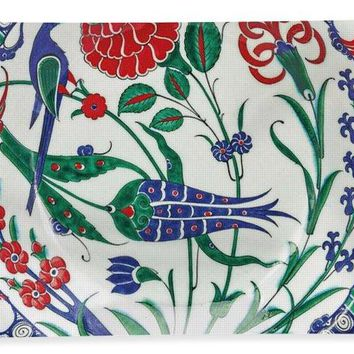 An Ottoman Iznik Style Floral Design Pottery Polychrome, By Adam Asar, No 1 - Bath Towel