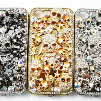 Bling Skull 3D iPhone Case