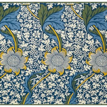 Kennet Design Detail 5 by Arts and Crafts Movement Founder William Morris Counted Cross Stitch or Counted Needlepoint Pattern - Counted Cross Stitch