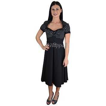 60's Vintage Retro Design Polka Dot Flare Party Dress