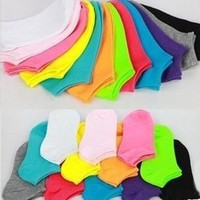 1lot=20pcs=10pair Spring Autumn and Winter Women Socks / Cotton Socks Women's Candy Color Casual Socks