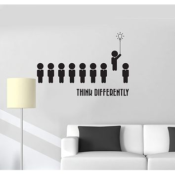 Vinyl Wall Decal Think Different Office Space Decor Interior Art Stickers Mural (ig5744)