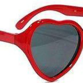 Kids Girls Heart Shaped SWEET PIE Sunglasses Age 2-4 RED and WHITE Frames