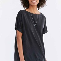Silence + Noise Cupro Boat-Neck T-Shirt Dress