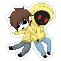 Masky and Hoodie Sticker by KayBit