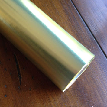 Metallic Gold Wrapping Paper, 1 Roll. Holiday gift wrap, Christmas wrapping paper