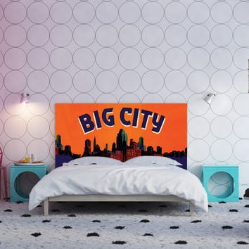 Full size Urban Landscapes custom headboard
