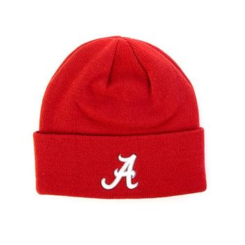 Alabama Crimson Tide Top of the World Simple Cuffed Knit Hat