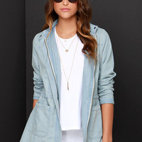 Jack by BB Dakota Oswald Light Wash Chambray Jacket