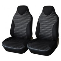 Adeco 2-Piece Deluxe Leatherette Car Vehicle Protective Seat Covers, Universal Fit, Black Color