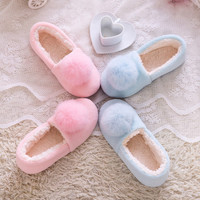 Large real rabbit fur ball home autumn and winter shoes floor slippers princess style home waterproof shoes free shipping