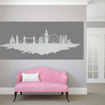 ik2728 Wall Decal Sticker city london england panorama living room bedroom