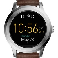 Fossil Q Founder Leather Strap Digital Smart Watch, 46mm | Nordstrom