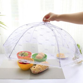 SOLEDI kitchen Vogue Lace Mesh Screen Protect Cover Collapsible Umbrella Tents Dome Fly Picnic Large Food Cover