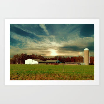 Rural America Art Print by Theresa Campbell D'August Art