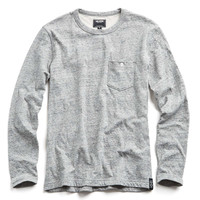 Double Face Jersey Long Sleeve Tee in Grey