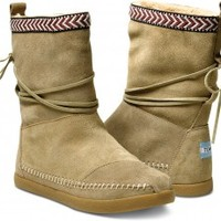 Sand Suede Trim Women's Nepal Boots