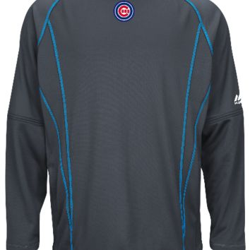 Mens Chicago Cubs Authentic Collection Fashion Practice Pullover