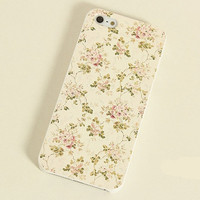 Yellow Flowers Frosted Painting Phone Case For iPhone 5