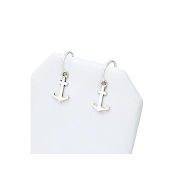 Odette Nautical Anchor Earrings for Her, Small Silver Earrings