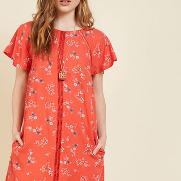 Whimsical Wildflowers Shift Dress
