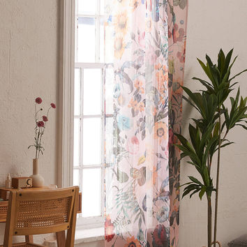 Burcu Korkmazyurek For Deny Exotic Garden Sheer Window Panel | Urban Outfitters