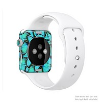 The Turquoise Butterfly Bundle Full-Body Skin Kit for the Apple Watch