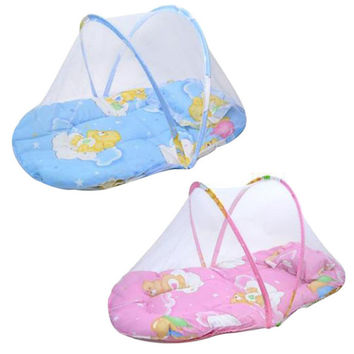 Amazing 2016 New Summer Baby Bed Crib Mosquito Netting Cushion Portable Infant Folding Babies Mosquito Net Mattress