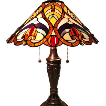 Victorian Tiffany Style Table Lamp 24 Inches Tall
