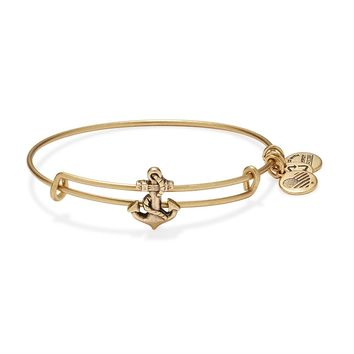 Anchor Slider Charm Bangle