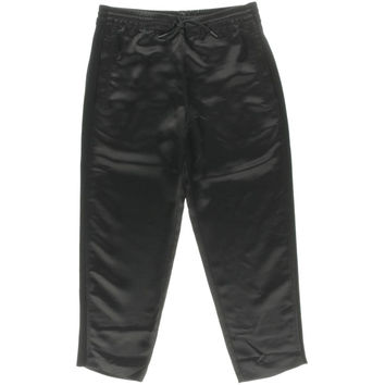 T by Alexander Wang Womens Satin Cropped Track Pants
