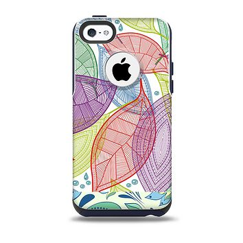 The Seamless Color Leaves Skin for the iPhone 5c OtterBox Commuter Case