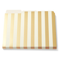 Kate Spade File Folders - Stripe