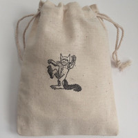 Where The Wild Things Are Max Muslin Favor Bags, Set of 10 (3x5 shown)