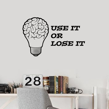 Vinyl Wall Decal Brain Quote Office Home Motivating Inspiring Decor Stickers Mural (ig5433)
